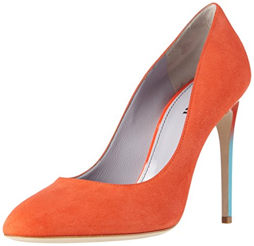 Pollini Damen Scarpad.of Pk28/105 Cam+Ver.Opium Pumps Orange