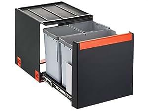 Franke Cube 40 Handauszug 3-fach Mülltrennung / Abfallsammler 1x 14 Liter + 2x 7 Liter