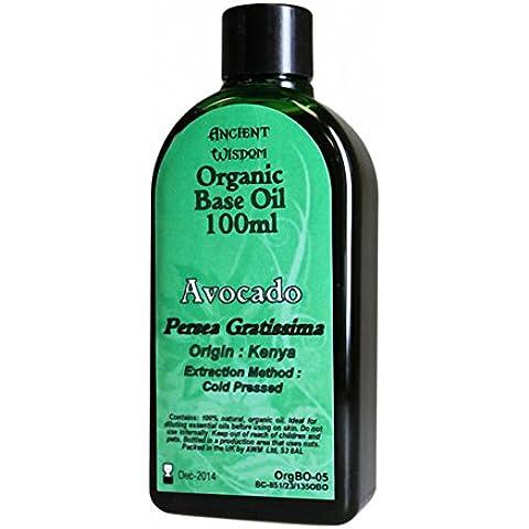 Aguacate 100 ml aceite Base orgánica. Aguacate: Persea Gratissima; Origen: Kenia; Método de extracción: prensado en frío. Un regalo perfecto - gran para cumpleaños,