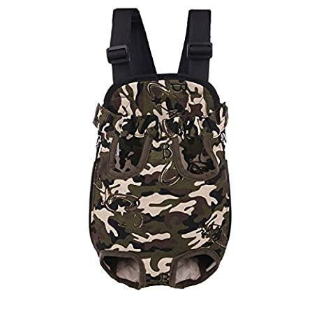 Pingxia Legs Out Front Kangaroo Pouch Pet Dog Carrier,Chest Backpack Puppy Tote Holder Bag for Walking Travel Hiking Camping(XL 16*9.2 inch;Camouflage color)