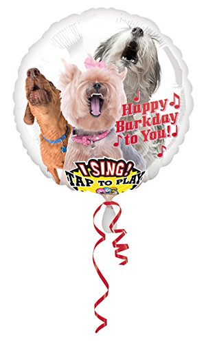 amscan 3127201 Folienballon Sing-A-Tune Happy Barkday