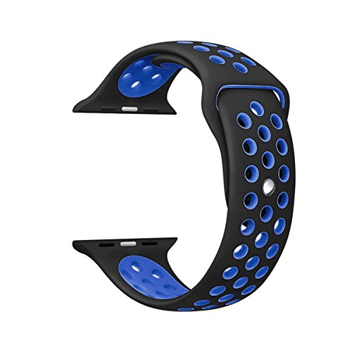 Memore Nike Sport replacement Loop Band for Apple Watch all Models (38mm, Black-Blue)  available at amazon for Rs.999
