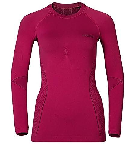 Odlo Damen Evolution Warm Baselayer Shirt T-Shirt, Sangria-Zinfandel, L