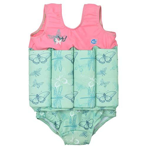 Splash About Mädchen Kinder-Schwimmanzug Mit Verstellbarem Auftrieb, Dragonfly, 1-2 Jahre