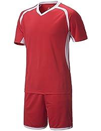 KINDOYO Chicos Hombres V Cuello Manga Corta Kit de Fútbol Camiseta Pantalones Ropa Deportiva