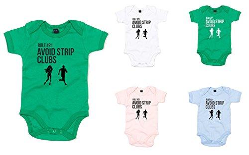 Rule #21 Avoid Strip Clubs, Printed Baby Grow