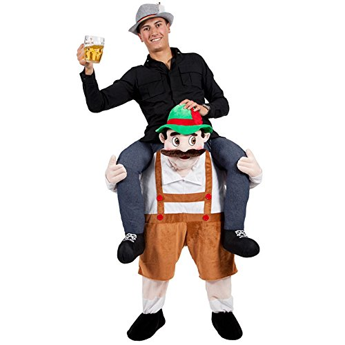 Hot 7 Choices Bayerische Bier Guy Ride On Maskottchen Piggy Back Carry Me Oktoberfest Party Kostüm Novelties Leprechaun Kostüm, (Kostüme Maskottchen)