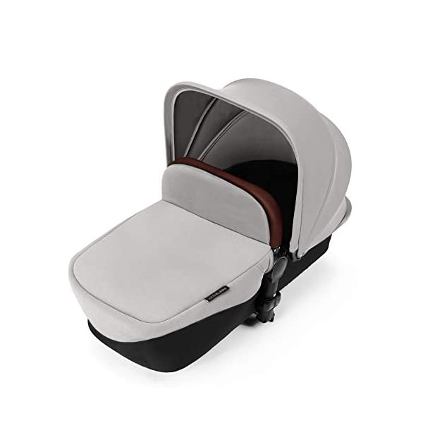 Ickle Bubba Stroller Stomp V3 iSize All-in-One iSize Baby Travel System | Car Seat w/ Isofix Base, Rear and Forward-Facing Pushchair, Carrycot | Silver on Black Frame Ickle Bubba All-IN-ONE TRAVEL SYSTEM: This stylish and attractive two tone complementary design features carrycot, reversible pushchair, and Mercury i-Size car seat. Easy-click release allows for quick transitions between car and stroller. Includes an ISOFIX Base. LIGHTWEIGHT WITH PUNCTURE FREE FOAM TIRES: : 6.5kg chassis with foam wheels allows for a smooth ride, includes an easy press and release single step foot brake locking system FORWARD AND PARENT FACING TODDLER SEAT WITH ALL WEATHER PROTECTION: Multi-position recline allows your child to lie comfortable for naps or sit upright to take in the sights. Protect from rain or shine with a collapsible weather cover. 8
