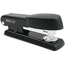 Rapesco Bowfin - Grapadora metálica de media carga y 25 hojas de capacidad, usa grapas 26 y 24/6mm, color negro