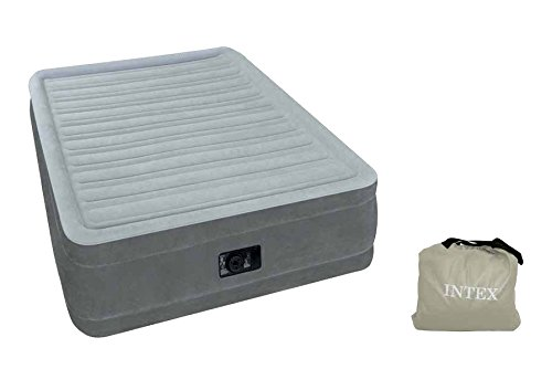 Intex airbed materasso gonfiabile comfort plush elevated, tecnologia fiber tech, singolo, 99x191x46 cm