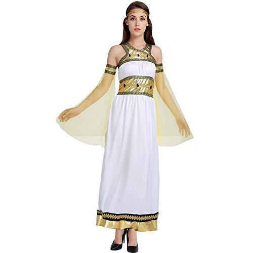 CN Cosplay Kostüm Halloween Cosplay Arabische Göttin Yan Nach Dem Ägyptischen Alten Platin Königin Kostüm,Foto Farbe,Einheitsgröße