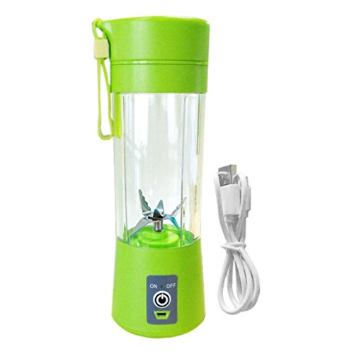 Mini Portable USB Electric Fruit Juicer Cup Rechargeable 400ml Smoothie Maker