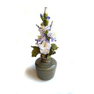 Flores de Porcelana Rusa Miniatura Gladiolo Home Decor regalo – HAND MADE