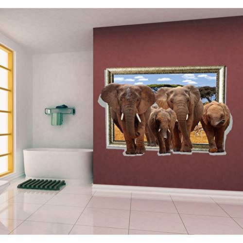 Zxfcccky Los Elefantes Caminaron Desde El Marco De La Imagen Falsa Tatuajes...