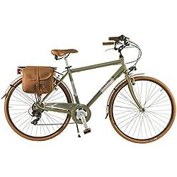 Via Veneto by Canellini Bicicleta Bici Citybike CTB Hombre Vintage Retro Dolce Vita Aluminio Vert Olive (54)