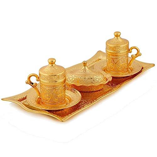 Lussodor Hochwertige 8 teilige 'Dust' Kaffee-Kannen Mokkakanne-Kaffeeservice-Cezve-Set mit...