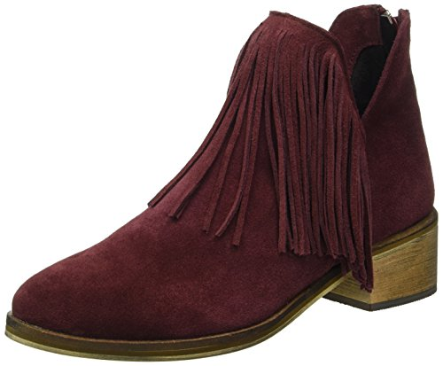 VERO MODA Damen Vmlaure Leather Boot Kurzschaft Stiefel Braun (Decadent Chocolate)