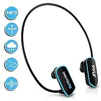 Pyle Sport FL extreme Waterproof MP3 Player Headphones, Black/Neon Blue - PSWP6BK