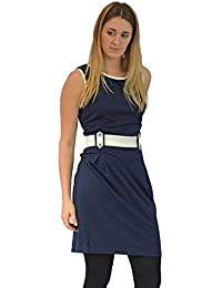 c000baae2d9e White Label Navy Sleeveless Dress with White Trim RRP £35