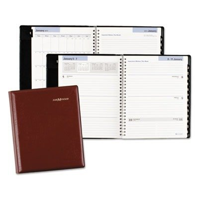 DayMinder Recycled Executive Weekly/Monthly Planner, 6 x 9 Inches, Burgundy, 2011 (G545-14) by DayMinder