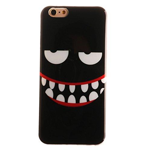 """iphone 6 Coque, SsHhUu [Milky Way] Ultra Slim Doux TPU Flexible Durable Gel Silicone Protecteur Rear Skin Painting Art Étui Housse Case Cover pour Apple iphone 6 6S (4.7"""") Evil smile"""