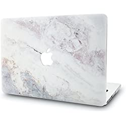 KECC MacBook Air 13 Pouces Coque Rigide Case Cover pour MacBook Air 13.3 Coque {A1466/A1369} (Marbre Blanc 2)