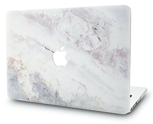 KECC Hülle für MacBook Air 13 Zoll Schutzhülle Case Cover MacBook Air 13.3 Hülle {A1466/A1369} (Marmor Weiß 2) (Apple Inch Macbook Case Air 13)