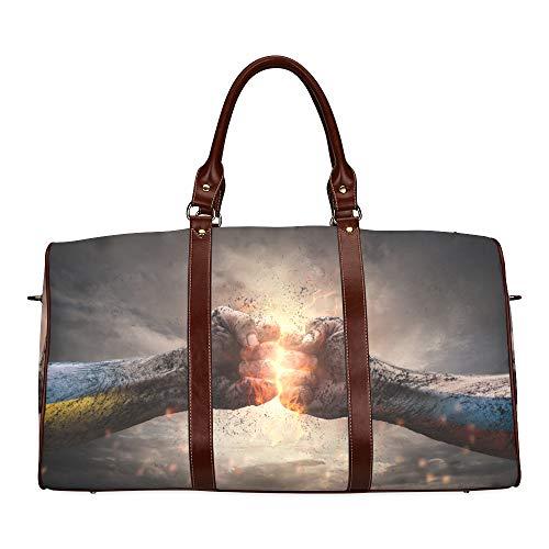 Reise-Seesack Grausame und erbarmungslose Kriegswasserdichte Weekender-Tasche Reisetasche Damen Damen-Einkaufstasche Mit Mikrofaser-Leder-Gepäcktasche