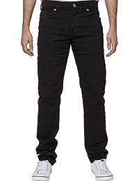 ENZO Hommes Haute Qualité Coupe Slim Jeans Extensible Retro Pantalon Jean