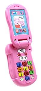 Peppa Pig PP06tapa y aprender juguete de teléfono electrónico  (Idioma Inglés)
