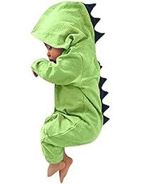 ASHOP Bebé Dinosaurio Hooded mameluco ropa Pijama Trajes de niños