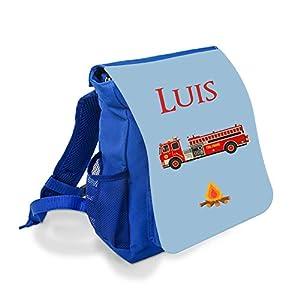 Kinderrucksack Feuerwehr mit Namen für 1-5 Jährige