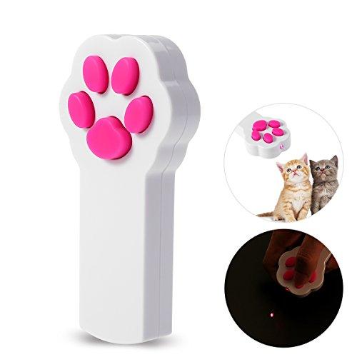 UEETEK Pata estilo gato captura la luz LED interactiva puntero ejercicio...