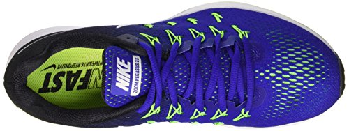 Nike Air Zoom Pegasus 33, Zapatos Atléticos Para Hombre Azul / Blanco-negro-verde (concord / White-black-elctrc Grn)