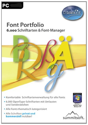 Font Portfolio - 6.000 Schriftarten & Font-Manager [Download]