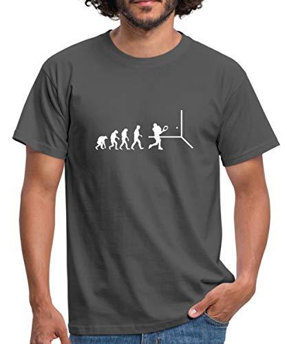 Squash Evolution Männer T-Shirt, L, Graphite