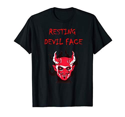 Kostüm Beängstigend Wirklich - Wirklich beängstigend gruselig Horror Teufel Hörner Gesicht  T-Shirt