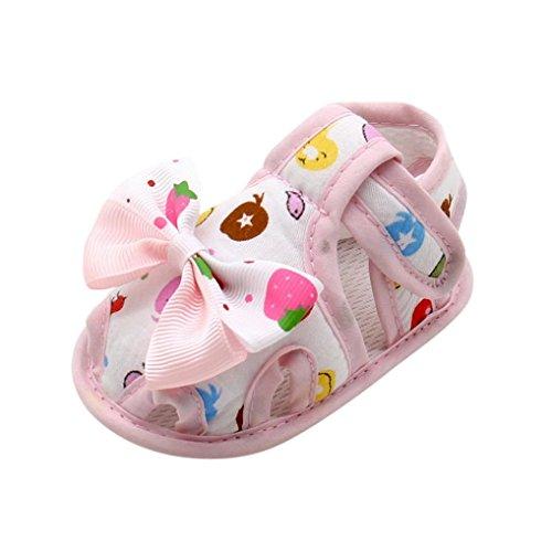 Baby Schuhe, Switchali Bogen Soft Sole Kleinkind Schuhe für 0-18 Monat Rosa