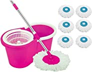 DAIVE's MopFloor Cleaner with Bucket Set Offer with Big Wheels for Best 360 Degree Easy Magic Cleaning, P