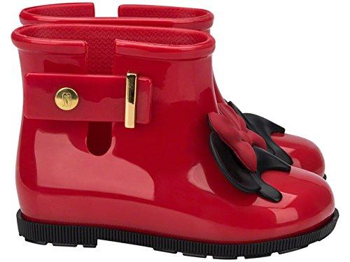 MINI MELISSA - Red rain boot, made in Brazil, completely made of MELFLEX plastic, Child, Children, Girl, Girls