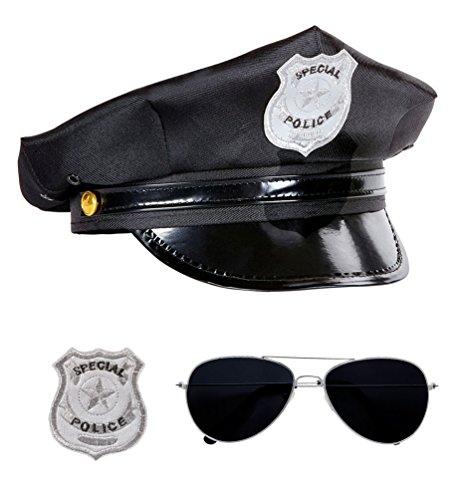 Karneval Klamotten Kostüm Set Polizist Zubehör Fasching (Polizei Kostüme Für Erwachsene)