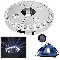 Lámpara inalámbrica para sombrilla de patio, con 24 más 4 luces LED; apta para