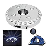Patio Umbrella Lights, Parasol Lights,Wireless Lamp, with 24 + 4 LED,Camping Tents and Outdoor Use (Silver)