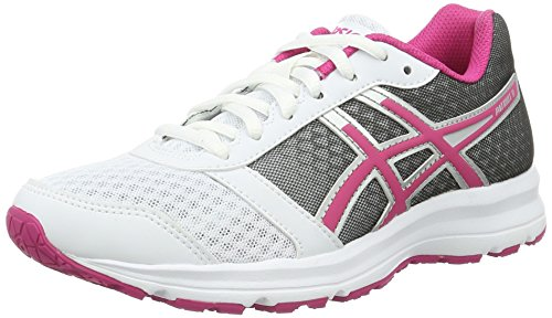 Asics Patriot 8 W, Zapatillas de Running Mujer, Multicolor (White/Sport Pink/Silver), 38 EU