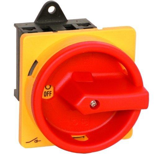 Hauptschalter 16A 4-polig Einbauversion, Frontbefestigung, Lasttrennschalter, Not-Aus-Schalter, JS4P16A-E