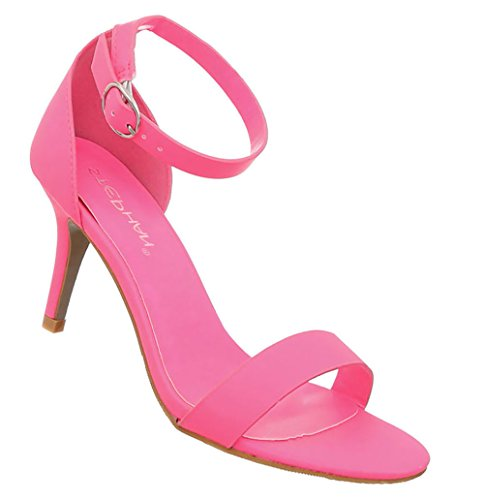 Damen Schuhe Sandaletten Stiletto High Heels Abendschuhe Pumps Pink 37