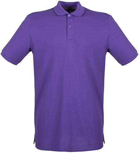 Henbury Herren Poloshirt Violett