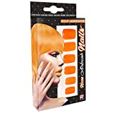 Widmann 05347 12 Selbstklebende Neon Fingernägel, Damen, Orange