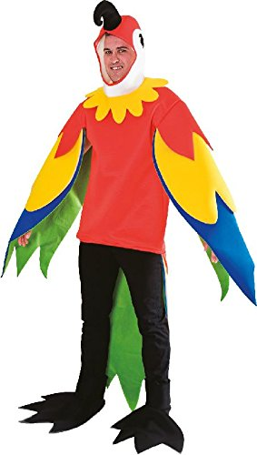 (Mottoland Herren Kostüm Papagei als bunter Vogel zu Karneval Fasching)