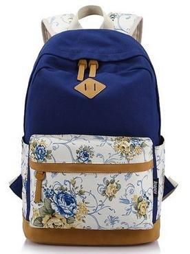icase4u® 2015 Multi Función Moda Mochila Bolsa Escolar Tipo Casual Bonita de Lona de Viaje Mochila de Marcha para Picnic para Mujer o Chica